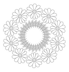 Circular crown with flowers vector