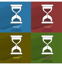 Color set Sand clock Glass timer Flat modern web vector image