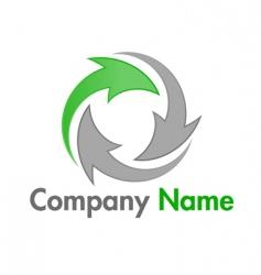 recycle logo vector image vector image