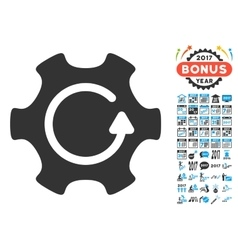 Rotate Gear Icon With 2017 Year Bonus Symbols vector image vector image