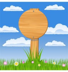 round wooden board vector image