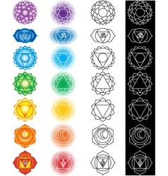seven chakras vector image vector image