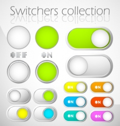 switchers collection vector image vector image