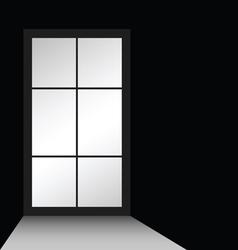 window on black vector image