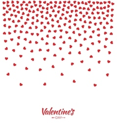 Hearts Gradient Background Valentines Day Card vector image vector image