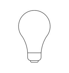 light bulb idea creativity innovation icon vector image vector image