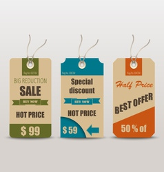 Old retro vintage tag for sale vector image