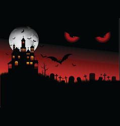 spooky Halloween scene vector image vector image