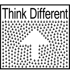Think different business concept vector image vector image
