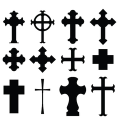 types of cross vector image