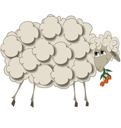a sheep with flowers vector image vector image