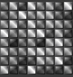 checkers metal background of polished metal plates vector image