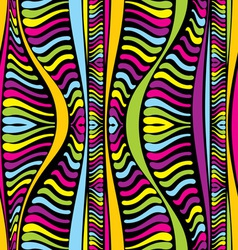 color abstract African lines vector image vector image