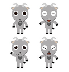 Goat Cute cartoon vector image vector image