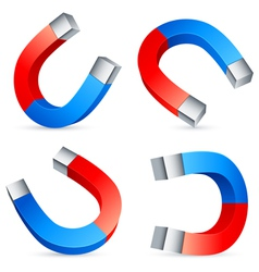 horseshoe magnets vector image vector image