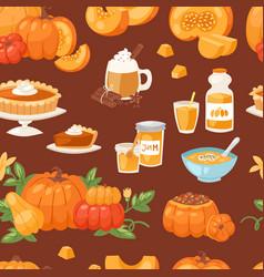 pumpkin food soup cake pie meals organic vector image