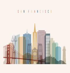 san francisco state california skyline vector image vector image