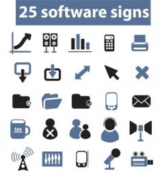 software signs vector vector image vector image
