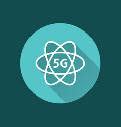 5g icon for graphic and web design vector image