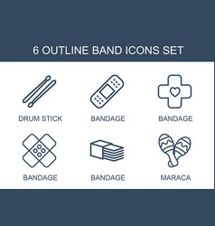 6 band icons vector