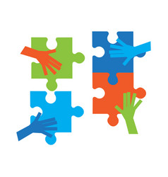abstract teamwork icon vector image