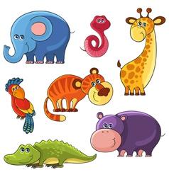 African wild animals set vector