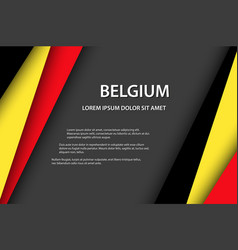 Background with belgian colors and free grey space vector