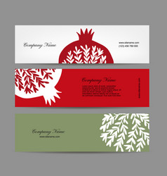banners design pomegranate background vector image
