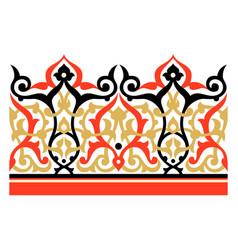 Beautiful arabic floral border vector