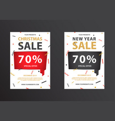 Big discount coupon for the new year and christmas vector