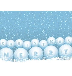 Bingo lottery ball Christmas snowballs vector