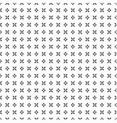 Black dense flower and rhombus dots pattern vector