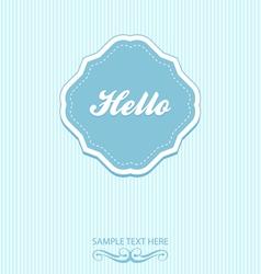 Blue vintage frame and background vector image
