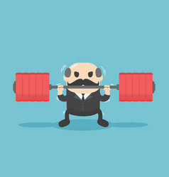 Business leaders who show a weight lifting vector