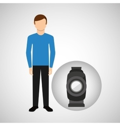 character man movie concept equipment film vector image