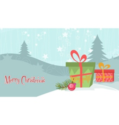 Christmas background with presents vector