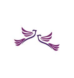 couple doves logo vector image