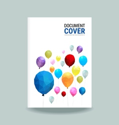 Cover report balloon polygon pattern vector image