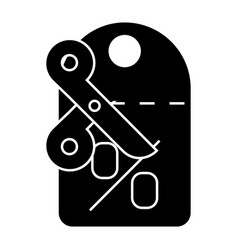 discounts - label - scissors icon vector image