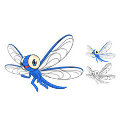 Dragonfly Cartoon Character vector