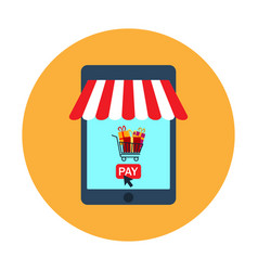 e-commerce and web store icon vector image