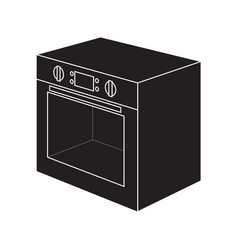 electric oven icon vector image