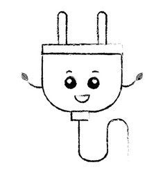 energy plug kawaii character vector image