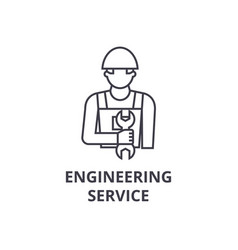 engineering service line icon sign vector image
