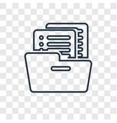 files concept linear icon isolated on transparent vector image