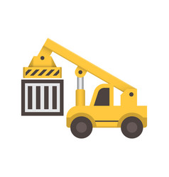 forklift equipment icon vector image