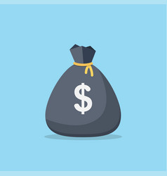 full money bag icon vector image