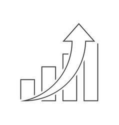 graph up outline icon on white background vector image