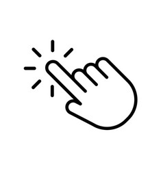 hand click icon in trendy outline style design vector image