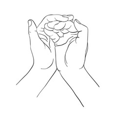 hand drawn woman hands vector image